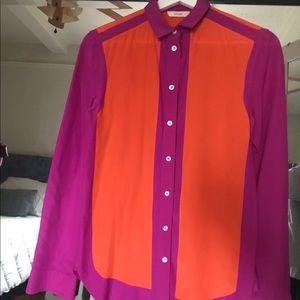 Old Celine button down silk blouse